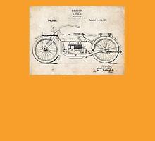 Harley-Davidson Motorcycle US Patent Art Ziska 1919 Unisex T-Shirt