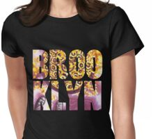 yellow leaves in brooklyn Womens Fitted T-Shirt