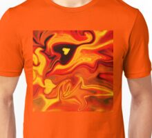 Hot Hearts Abstract Painting Unisex T-Shirt
