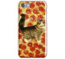 Pizza cool CUTE KITTEN hipster #4 iPhone Case/Skin