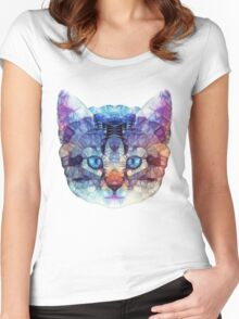 abstract kitten Women's Fitted Scoop T-Shirt