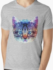 abstract kitten Mens V-Neck T-Shirt