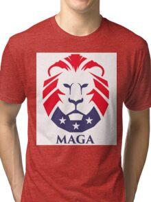 MAGA trump logo Tri-blend T-Shirt