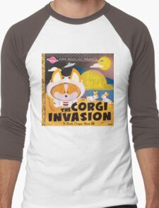 4th Annual Corgi Beach Day  Men's Baseball ¾ T-Shirt