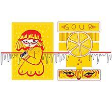 Sour Grrls: Sour Lemon Photographic Print