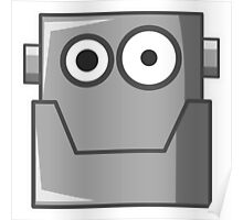 Kids Cartoon Robot Head Poster