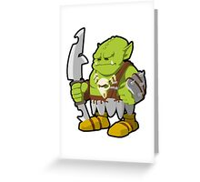 Orc Warrior Concept Art Greeting Card