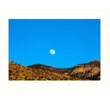 Moon Over the Sandia Mountains 2 Art Print