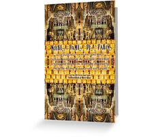 Notre-Dame Cathedral Rose Stained Glass Candles Novel Quote Greeting Card