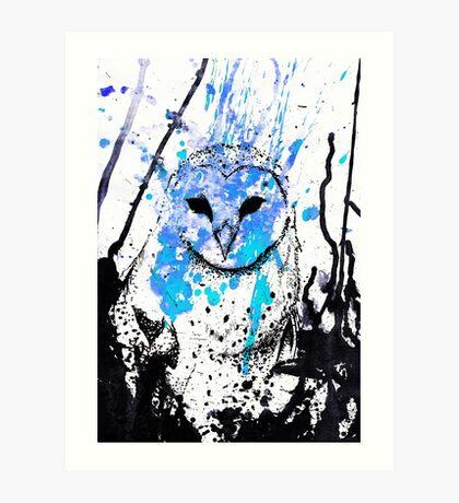 Watcher - Blue Art Print