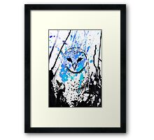 Watcher - Blue Framed Print
