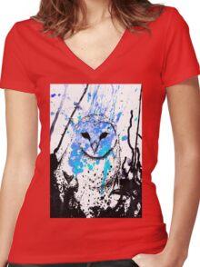 Watcher - Blue Women's Fitted V-Neck T-Shirt