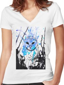Watcher - Blue Women's Fitted V-Neck T-Shirt