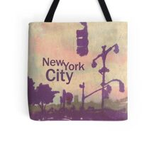 new york city streetlight silhouettes Tote Bag