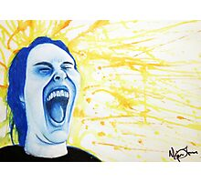 Distorted Portrait of Happiness Photographic Print