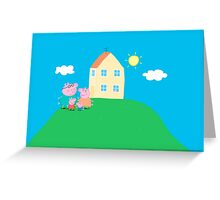 Peppa Pig and Family Greeting Card