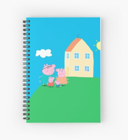 Peppa Pig and Family Spiral Notebook