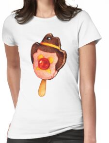 Bubble O' Bill Pattern Womens Fitted T-Shirt