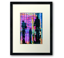 Commuter Abstract Framed Print