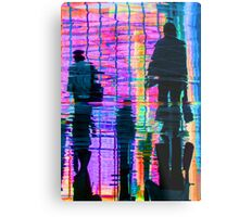 Commuter Abstract Metal Print