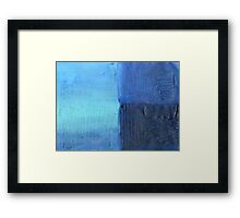 Morning into Night by the Sea Abstract Acrylic Painting Framed Print