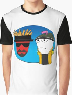 Aqua Teen Breaking Bad Graphic T-Shirt
