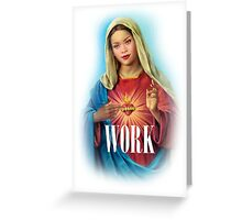 RIHANNA WORK IT MARY Greeting Card
