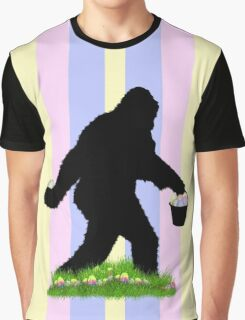 Gone Easter Squatchin with Pastel Background Graphic T-Shirt