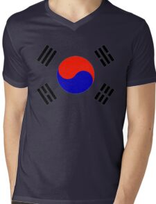 South Korea - Flag Symbol (Korean) Mens V-Neck T-Shirt