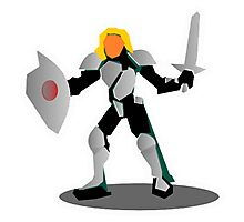 RPG Fighting Armored Warrior Character Knight Photographic Print