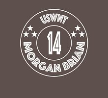 USWNT Morgan Brian in white logo Womens Fitted T-Shirt