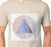 White Feather Sigil, Granite Background Unisex T-Shirt