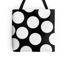 Dot  Black and White Tote Bag