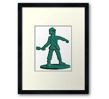 Toy Army Soldier Framed Print