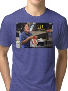 RIHANNA WORK AT MCDONALDS LOLoL Tri-blend T-Shirt