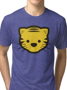 Cute Cartoon Tiger Head/Face Tri-blend T-Shirt