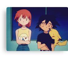 Ash Misty Pikachu Pokemon Canvas Print