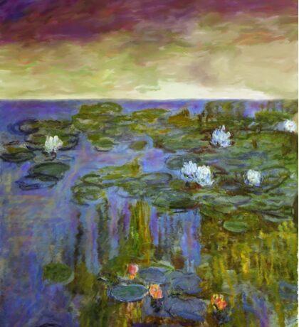 monet sunset water lilies dawn landscape impressionist Sticker