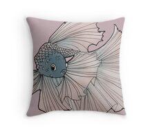 Mauve fairy fish Throw Pillow
