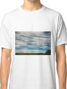 Clouds and fence Classic T-Shirt