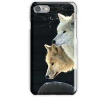 Two young wolves  iPhone Case/Skin