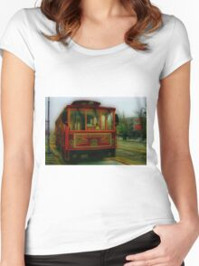 San Francisco Trolley Women's Fitted Scoop T-Shirt