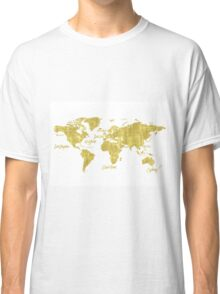 Gold world map treasure Classic T-Shirt