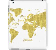 Gold world map treasure iPad Case/Skin