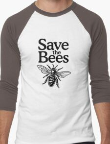 Save The Bees Beekeeper Quote Design Men's Baseball ¾ T-Shirt