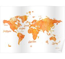 World map mango JV ed Poster
