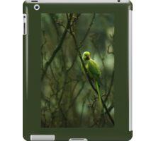 Green Ringnecked Parakeet iPad Case/Skin