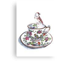 High Tea Plum Headed Finch Canvas Print