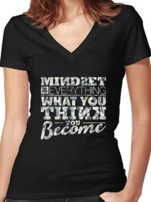 Mindset is Everything Women's Fitted V-Neck T-Shirt
