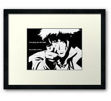 Spike's Finale Framed Print
